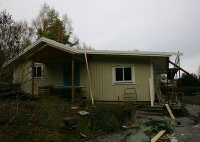 Nya huset börjar bli klart på utsidan