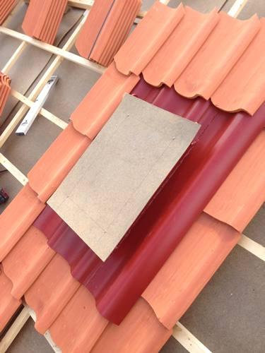 Kundens gamla takfönster används igen